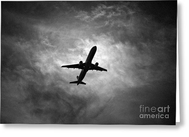 Turbojet Greeting Cards - Airbus 321 Greeting Card by Rastislav Margus
