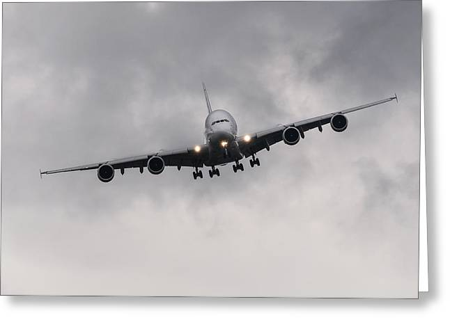Airbus A380 Greeting Card by Dutourdumonde Photography