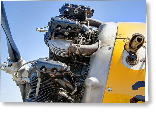 Plane Engine Greeting Cards - Aircraft Engine 3 Greeting Card by Daniel Hagerman
