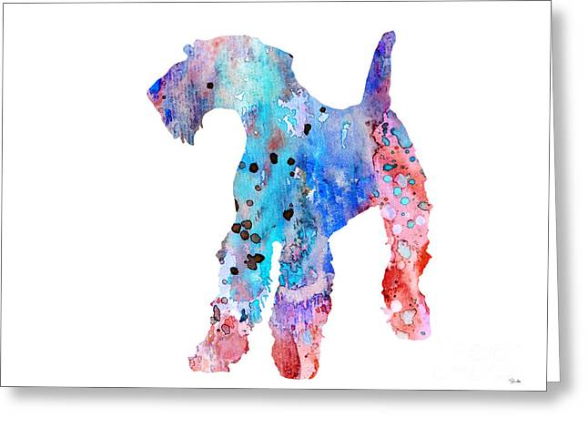 Airedale Terrier Greeting Cards - Airedale Terrier  Greeting Card by Luke and Slavi