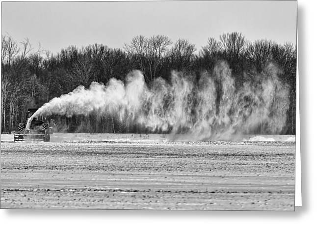 Airstrip Greeting Cards - Airfield Snow Blower  Greeting Card by Thomas Young
