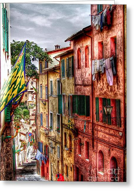 Sienna Italy Greeting Cards - Airing Your Laundry Greeting Card by Patrick Witz