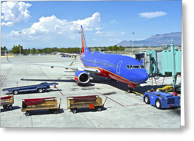 Airline Terminal In Albuquerque New Mexico. Greeting Card by Gino Rigucci
