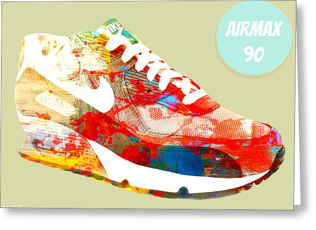 Nike Greeting Cards - Airmax 90 Greeting Card by Mops