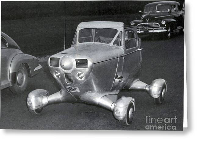 Edison Greeting Cards - Airphibian Roadable Aircraft 1947 Greeting Card by Science Source