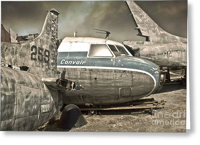 Gregory Dyer Greeting Cards - Airplane Graveyard Greeting Card by Gregory Dyer