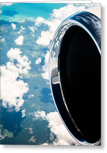 Plane Engine Greeting Cards - Tropical Skies Greeting Card by Parker Cunningham