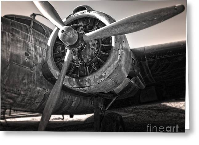 Airplane Propeller - 05 Greeting Card by Gregory Dyer