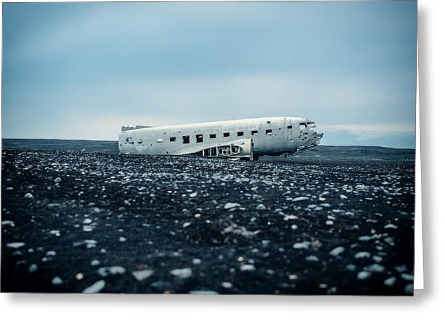 Old Relics Greeting Cards - Airplane Relic in Iceland Greeting Card by Mountain Dreams