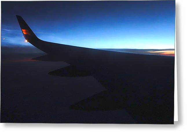 Airplane Wing - 02 Greeting Card by Gregory Dyer