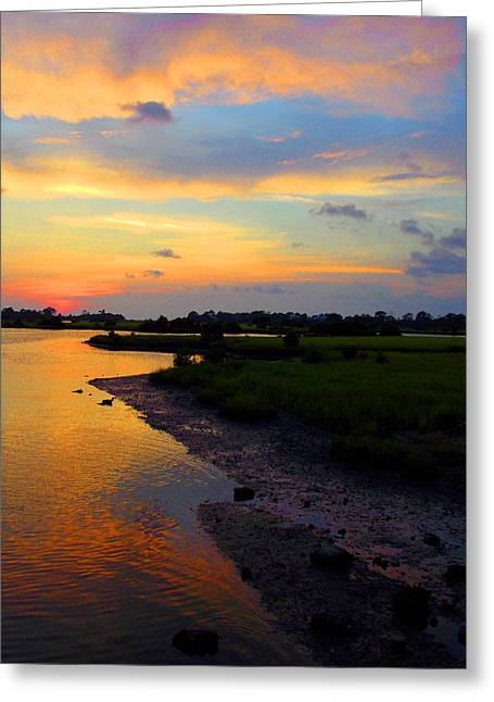 Cedar Key Greeting Cards - Airport Bridge Saturated Color Greeting Card by Sheri McLeroy