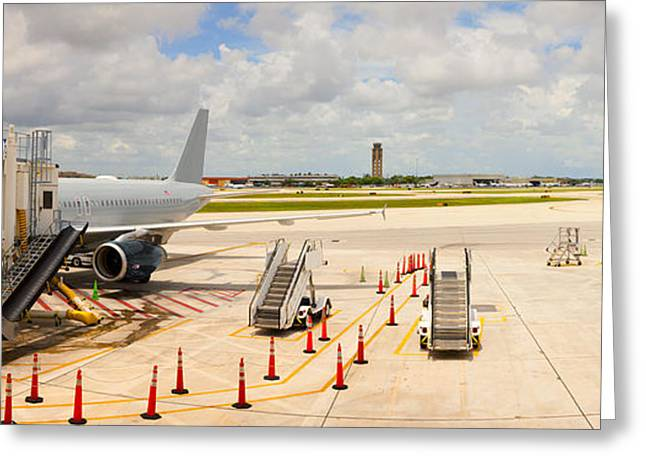 Gulf Coast States Greeting Cards - Airport, Fort Lauderdale, Florida, Usa Greeting Card by Panoramic Images