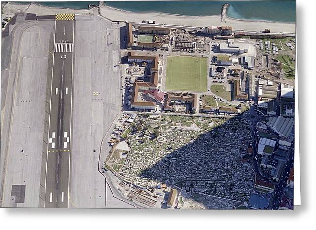 Industrial Concept Greeting Cards - Airport Of Gibraltar Greeting Card by Blom ASA