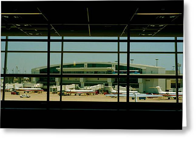 Airport Terminal Greeting Cards - Airport Viewed Greeting Card by Panoramic Images