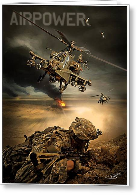 Wwi Greeting Cards - Airpower Greeting Card by Peter Van Stigt