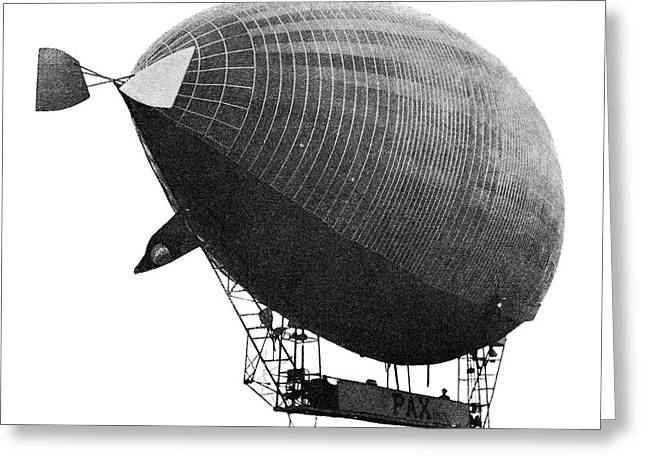 Airship 'le Pax' In Flight Greeting Card by Science Photo Library