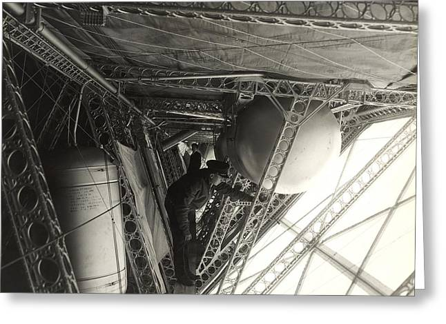 Helium Greeting Cards - Airship side corridor Greeting Card by Science Photo Library