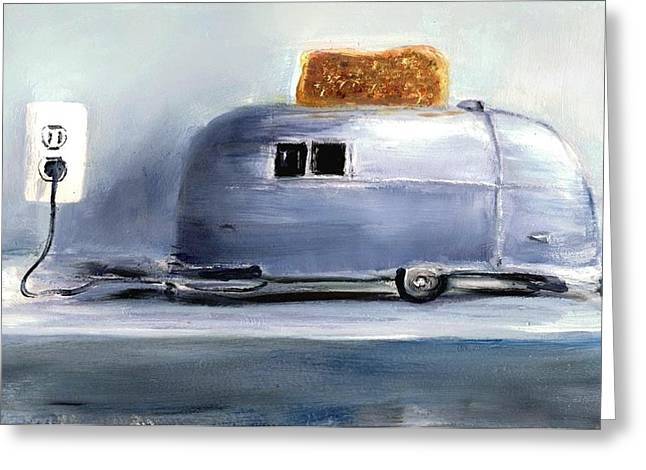 Toaster Paintings Greeting Cards - Airsteam Toaster Greeting Card by Sunny Avocado