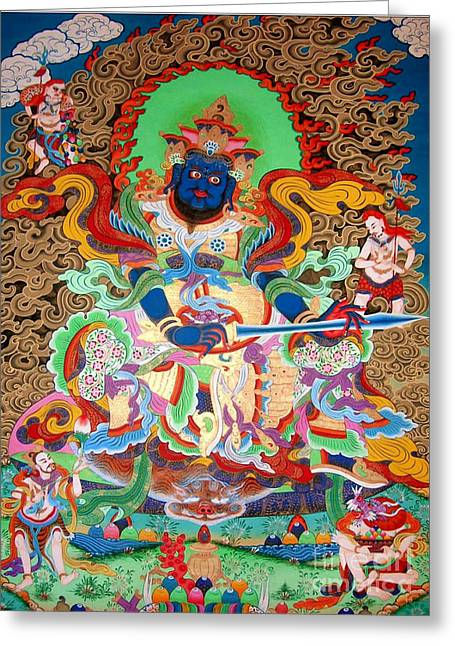Hindu Goddess Greeting Cards - Aishravnna  5 Greeting Card by Lanjee Chee