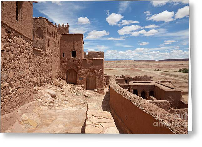 African Heritage Greeting Cards - Ait Ben-haddou Greeting Card by Bernd Rohrschneider