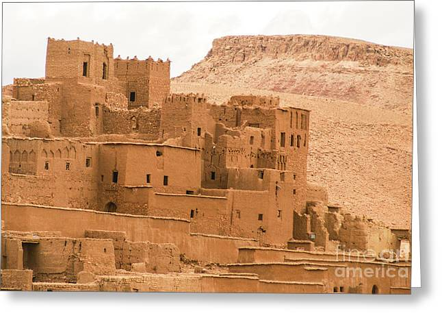 Kasbah Greeting Cards - Ait Benhaddou Morocco Greeting Card by Ruth Hofshi