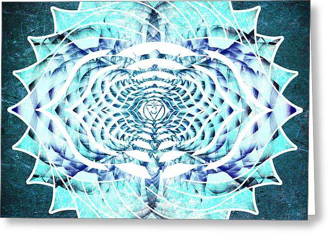 Ajna Greeting Cards - Ajna Breath and OM Greeting Card by Miabella Mojica