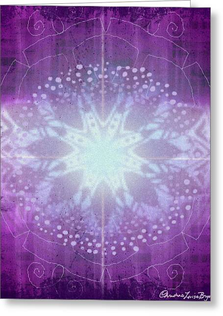 Christine Bryant Digital Greeting Cards - Ajna - Chakra 6 Greeting Card by Christine Louise Bryant