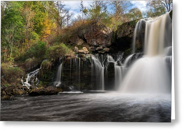 Akron Greeting Cards - Akron Falls Greeting Card by Mark Papke