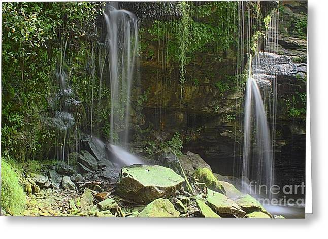 Akron Falls Greeting Cards - Akron Falls on a Summers Day 01 Greeting Card by Daniel J Ruggiero