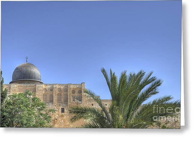 Amirp Greeting Cards - Al Aqsa Mosque Jerusalem Greeting Card by Amir Paz