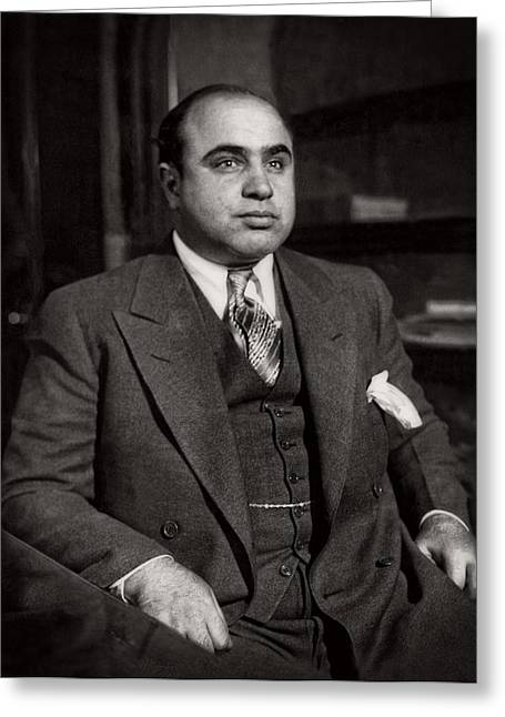 Recently Sold -  - Kelly Greeting Cards - Al Capone - Scarface Greeting Card by Michael Braham
