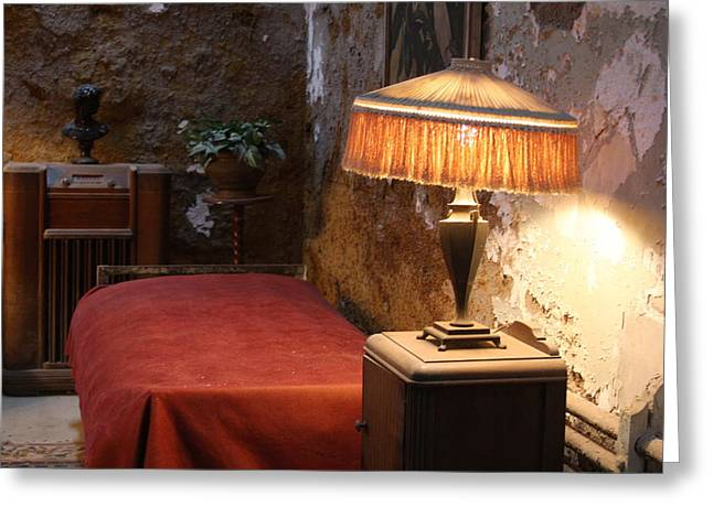 Original Photographs Greeting Cards - Al Capones Cell at the Eastern State Penitentiary Greeting Card by Vadim Levin