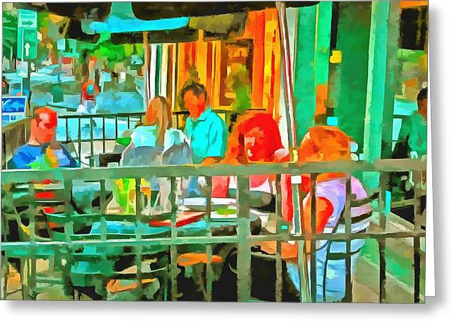 Al Fresco Greeting Cards - Al Fresco Greeting Card by CarolLMiller Photography