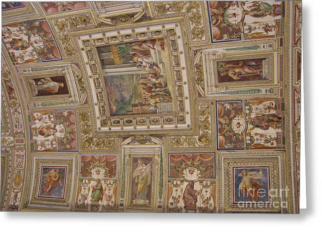 Al Fresco Greeting Cards - Al Fresco Ceiling Greeting Card by Deborah Smolinske