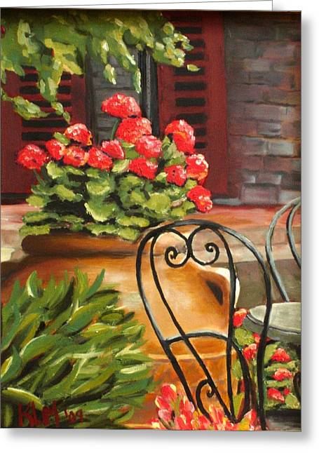 Al Fresco Greeting Cards - Al Fresco Greeting Card by Karen Macek