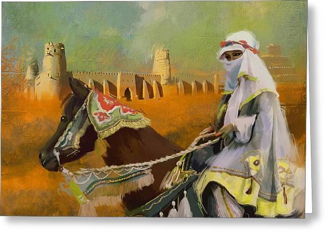 Famous Buildings Greeting Cards - Al Jahili Fort - C Greeting Card by Corporate Art Task Force