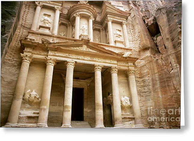 Petra Greeting Cards - Al Khazneh, Petra Greeting Card by Catherine Ursillo