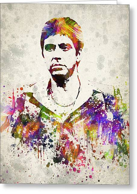 Tony Montana Greeting Cards - Al Pacino Greeting Card by Aged Pixel