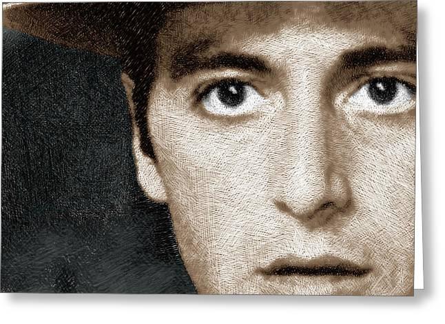 Al Pacino As Michael Corleone Greeting Card by Tony Rubino