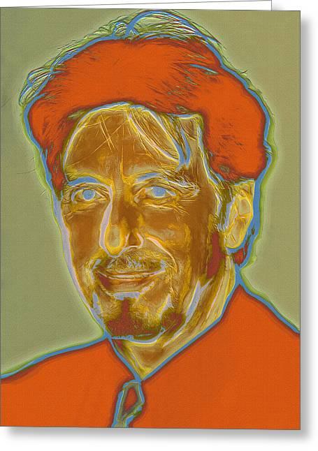 Photomanipulation Paintings Greeting Cards - Al Pacino I - Neon Greeting Card by Nikola Durdevic