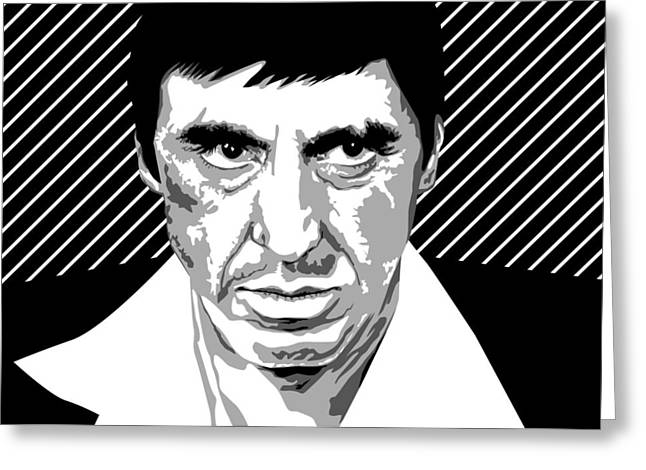 Pater Greeting Cards - Al Pacino Scarface  Greeting Card by Mihaela Pater