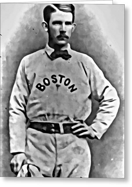 Red Sox Vintage Poster Greeting Cards - Al Spalding Greeting Card by Florian Rodarte