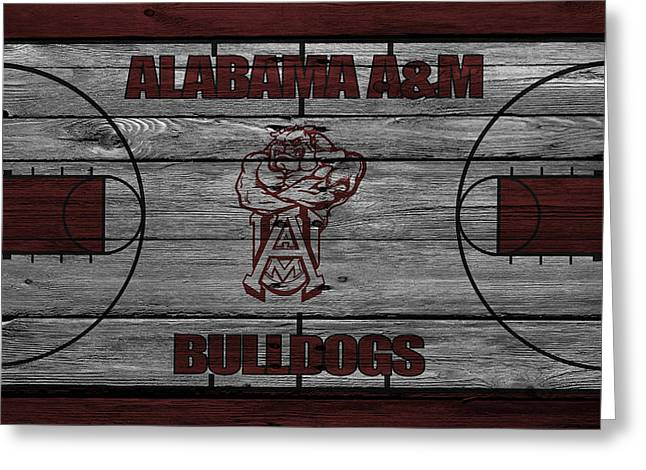 Division Greeting Cards - Alabama A M Bulldogs Greeting Card by Joe Hamilton