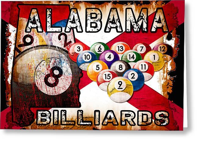 Four Fifteen Greeting Cards - Alabama Billiards Greeting Card by David G Paul
