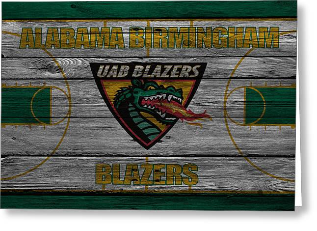 Division Greeting Cards - Alabama Birmingham Blazers Greeting Card by Joe Hamilton