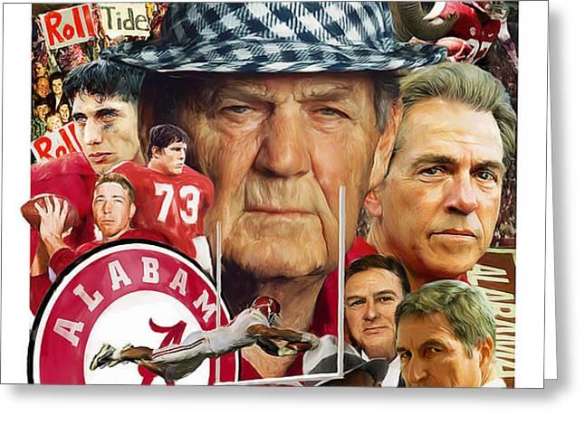 Alabama Crimson Tide Greeting Card by Mark Spears
