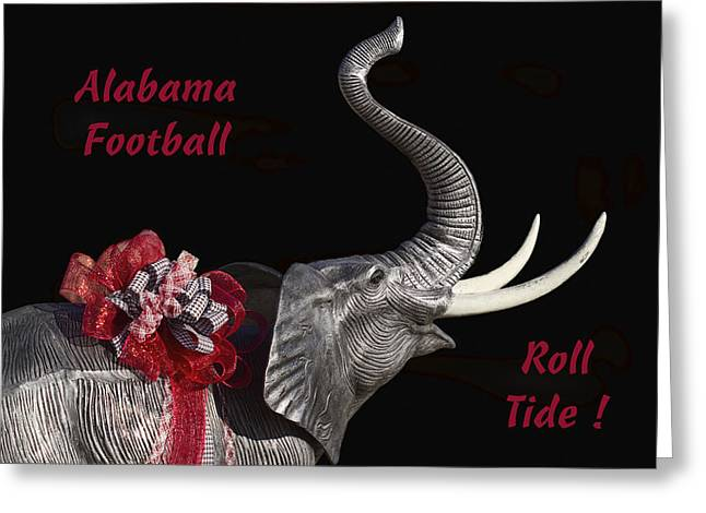 Bear Bryant Photographs Greeting Cards - Alabama Football Roll Tide Greeting Card by Kathy Clark