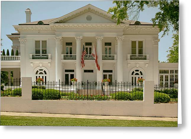 Covered Porch Greeting Cards - Alabama Governors Mansion Greeting Card by Mountain Dreams