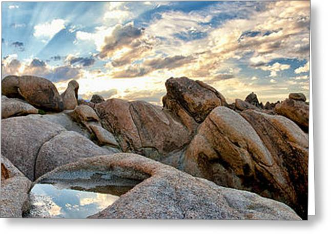 Landscape. Scenic Greeting Cards - Alabama Hills Sunset Greeting Card by Cat Connor