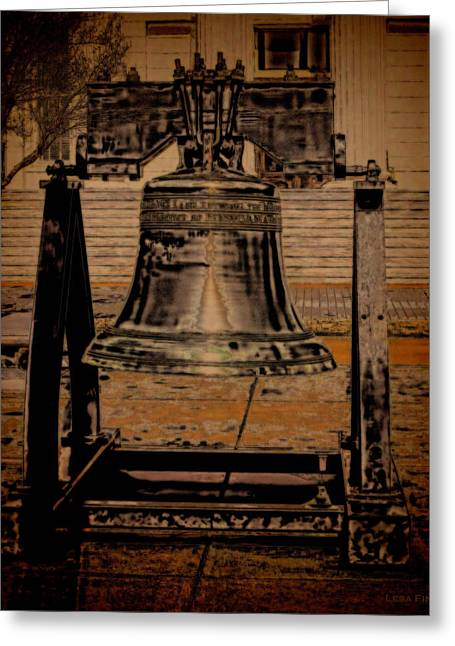 Liberty Bell Greeting Cards - Alabama State Capital Building Liberty Bell Art Greeting Card by Lesa Fine